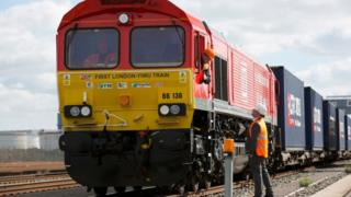 Rail freight service from the United Kingdom to China