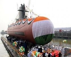 Indigenously build Scorpene-class submarine