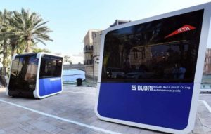 worlds first autonomous pods in Dubai