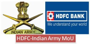 Indian Army-HDFC Bank ink MoU on defence salary package