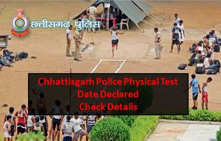 Chhattisgrah Police Constable Physical Date Check