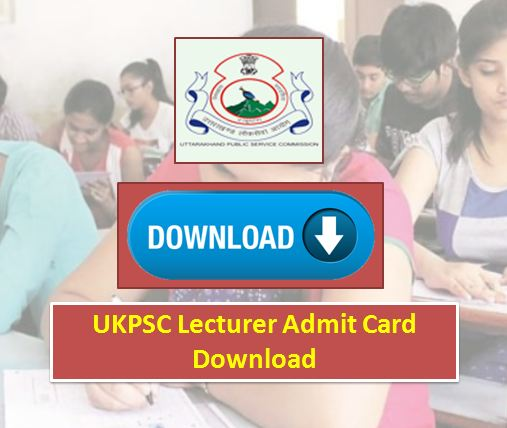 UKPSC Lecturer Admit Card download