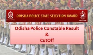 Odisha Police Constable Result Check Merit Cut Off