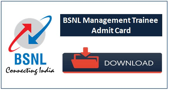 BSNL Management trainee admit card available now