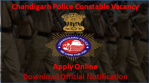 Chandigarh Police Constable Recruitment- Application form